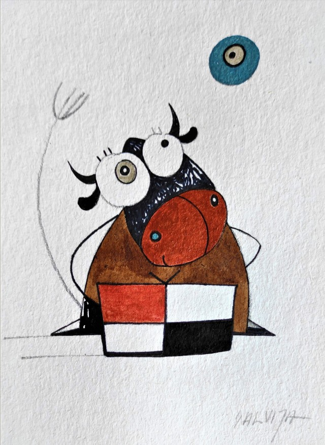 """Full of Love... From the cycle """"Stories of Cows"""""""