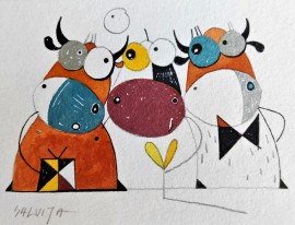 """Horny Society...From the cycle """"Stories of Cows"""""""