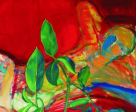 Fig In The Red Room original painting by Arvydas Švirmickas. Oil painting