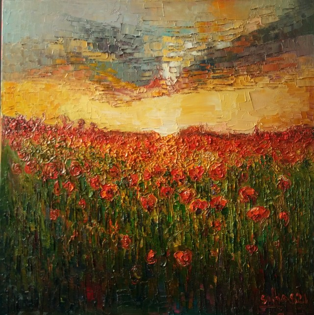 Poppies Before Sunset