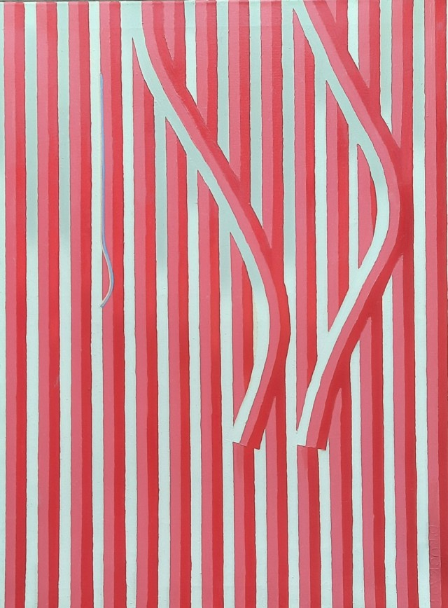 Detail of tension. Red