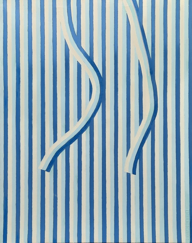 Detail of tension. Blue