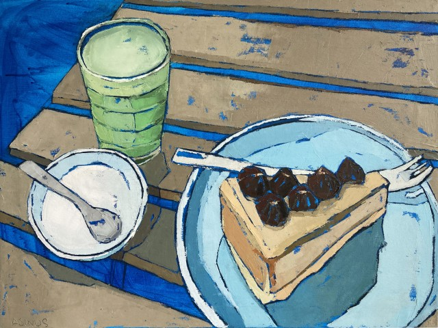 Matcha Tea, Nut Butter and Outdoor Tables