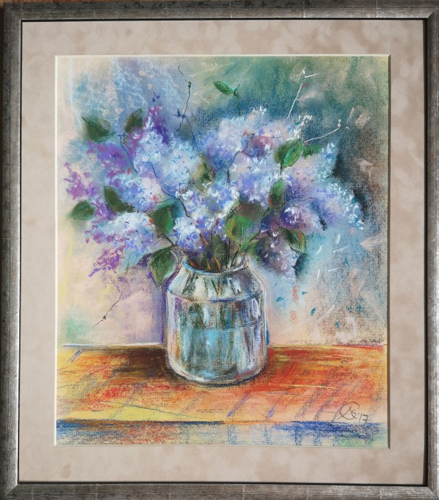 Lilacs in a Glass Jar