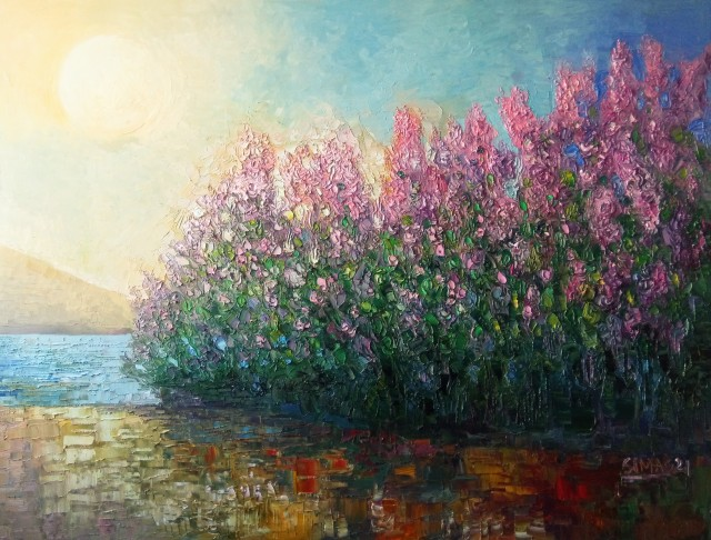 Lilacs By The Sea