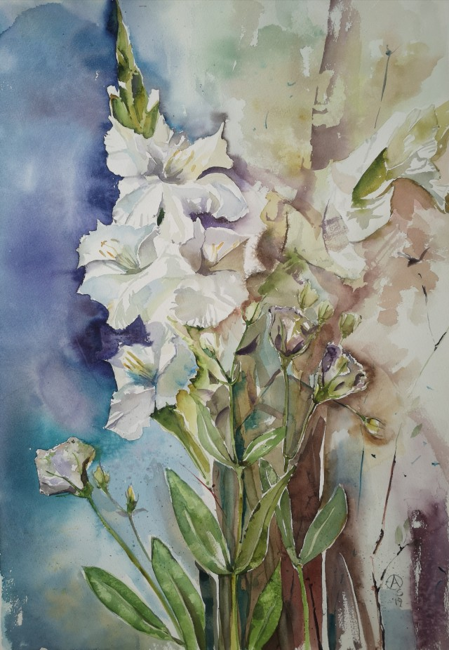 Gladiolus and Eustoma