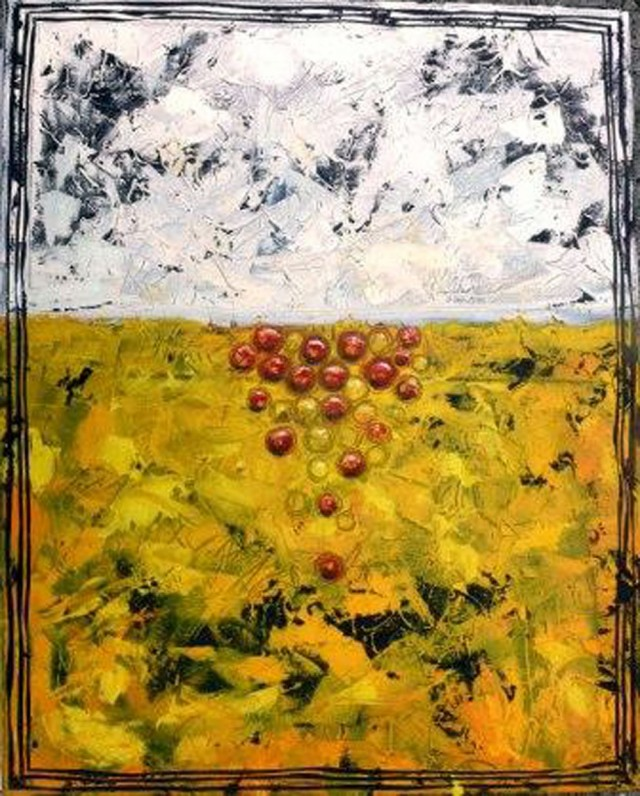 Grapes in the Snow original painting by Augustina Trijonytė. Abstract Paintings
