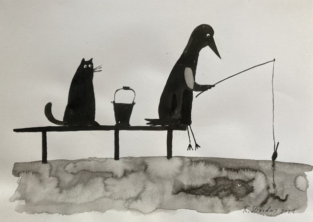 """From the Cycle Ilona the Crow """"Fishing"""""""