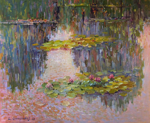 Water lilies in reflection I