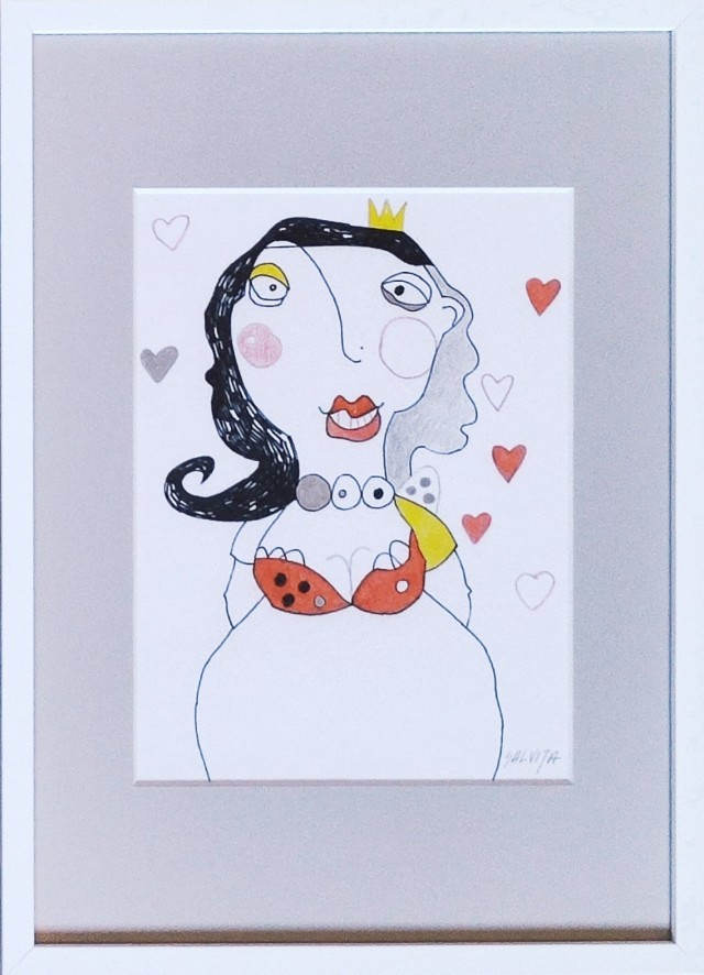 """Queen of Hearts. From the Cycle """"Tales of Angels"""