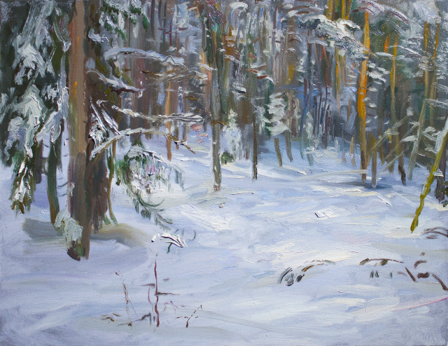 Etude Of Winter Forest