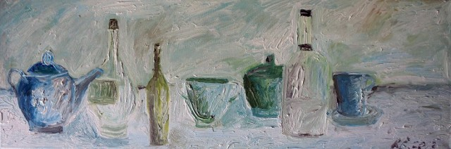 In Kitchen 2 original painting by Kristina Česonytė. Still-Life