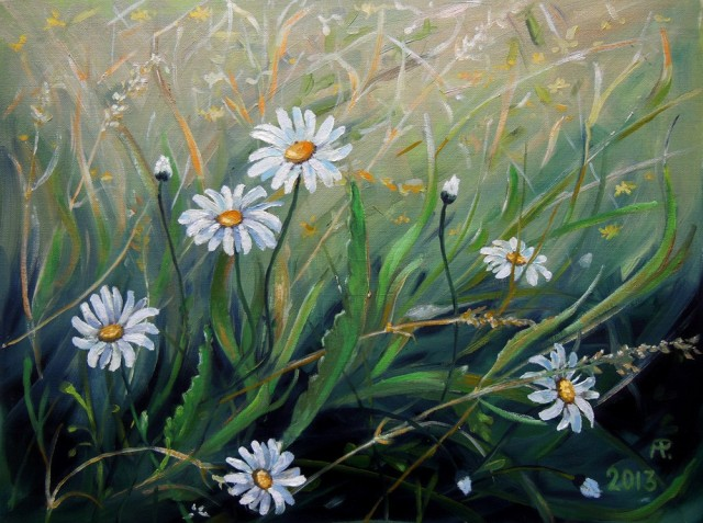 Summer Grassland original painting by Aloyzas Pacevičius. Flowers