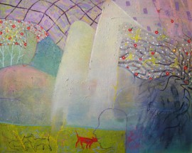 Spring I original painting by Lina Beržanskytė-Trembo . Oil painting